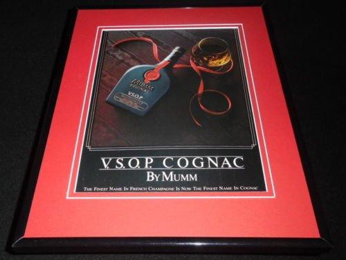 1986 VSOP Cognac by Mumm Framed 11x14 ORIGINAL Vintage Advertisement