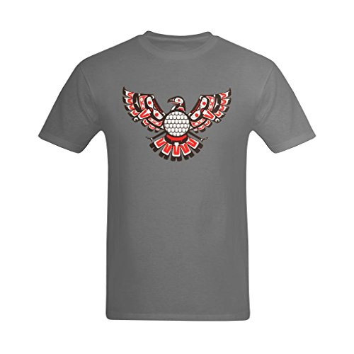 Zero-Start Men's Cool Aztec Phoenix Bird Natavie American Indian Tattoo Design T-Shirt - Love T-shirt US Size XL]()