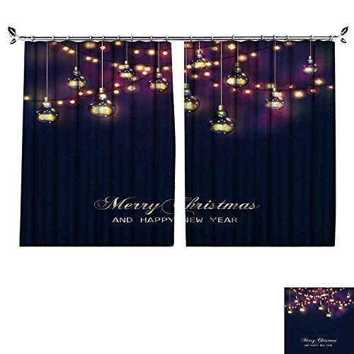 DESPKON Shading Pure Color Modern Minimalist Style Christmas and New Year Card with Festive Garland Lights and Light Bulbs Vector Furniture Material W96 x -