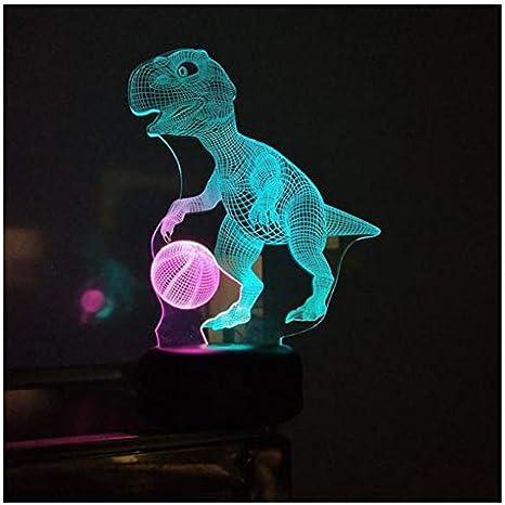 XINGXIAOYU Led 3D Dinosaurio Baloncesto Visión Pequeñas Luces De ...