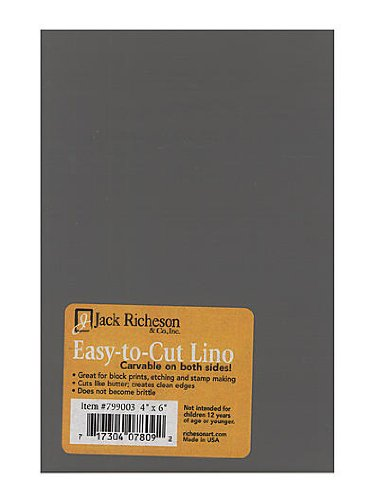 Jack Richeson Unmounted Easy-to-Cut Linoleum 4 in. x 6 in. [PACK OF 6 ] by Jack Richeson