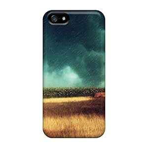 High Quality MichelleCumbers Rain Storm Over Wheat Field Hdr Skin Cases Covers Specially Designed For Iphone - 5/5s