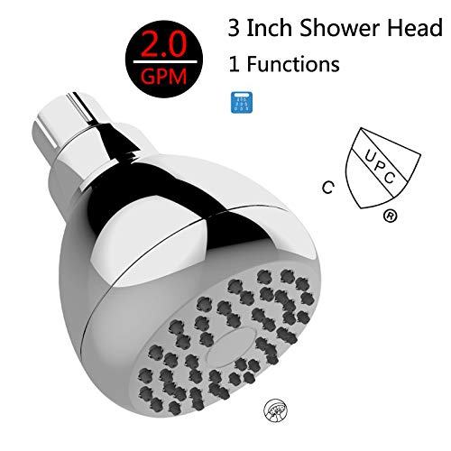 Pressurized Water-Saving Bath Shower Head Dark into Wall Rain Shower Plastic Small Top Spray by COXTOY