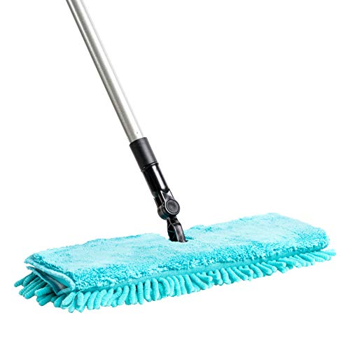 Fuller Brush Full Connect Flip Mop Set - Dual-Action Floor Cleaner & Duster w/Microfiber Head & Telescopic Handle - Wet & Dry Cleaning for Dust Free Hardwood, Marble & Tiled Floors