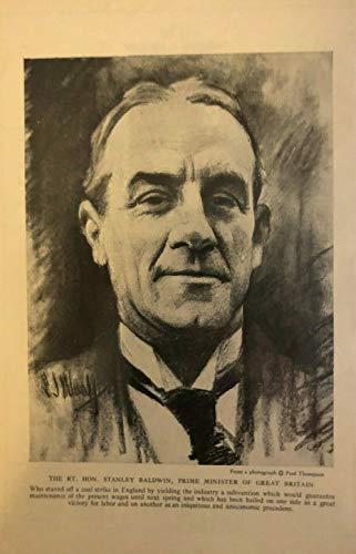 - 1925 Vintage Magazine Print Stanley Baldwin Prime Minister of Great Britain