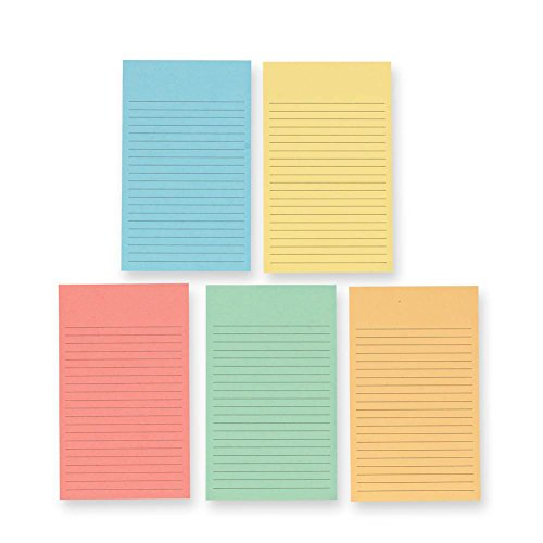 Levenger 300 3x5 MultiColor Ruled Refill Cards (ADS3430)