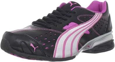 PUMA Women's Tazon 5 Cross-Training Shoe,Black/Puma Silver/Rose Violet,5.5 B US