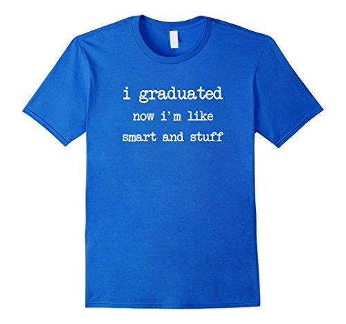 Mens Funny College High School Graduation Gift Senior 2017 Shirt Large Royal Blue