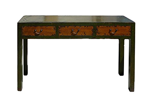 Rustic Fabric Grass Green Lacquer 3 Drawers Sideboard Table Acs627 from Table & Dining Set