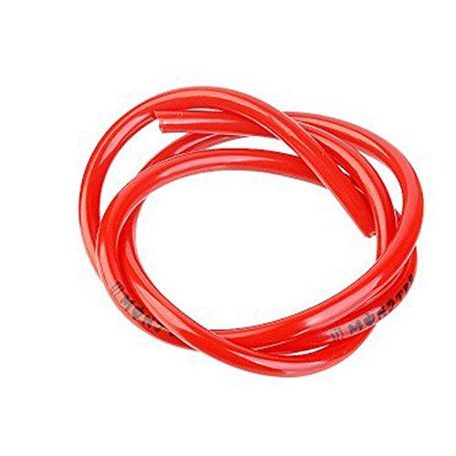 DAVEVY - Tubo de ventilación para Tubo de Gas de Gasolina de 1 m, Rojo