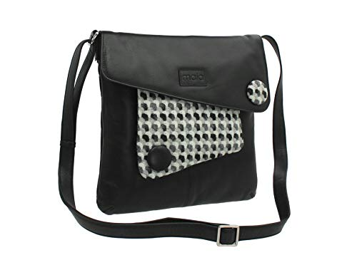 Bolso Negro Leather Negro 40 para Mala Cruzados Negro 730 Mujer UWO576