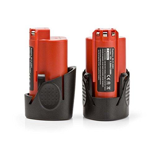 2 Pack ExpertPower 12-volt Lithium Battery for Milwaukee M12 REDLITHIUM, 48-11-2401, 48-11-2402, 48-11-2420, 48-11-2430, 48-11-2440, 48-11-2460, 48-11-2411, (0200 12 Volt Battery)