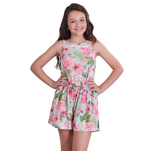 Pulla Bulla Big Girl Floral Romper Sleeveless Jumpsuit