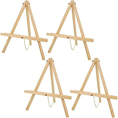 US Art Supply 16 inch Tall Tripod Easel Natural Pine (Pack of 4 Easels) by US Art Supply