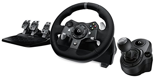 Logitech G920 Driving Force Racing Wheel + Logitech G Driving Force Shifter Bundle for Xbox One and PC (Renewed)