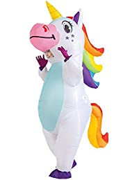 Inflatable Costume Unicorn Full Body Unicorn Air Blow-up Deluxe Halloween Costume - Adult Size