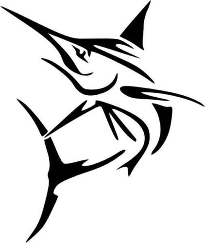Marlin Fish Animal Wildlife Vinyl Graphic Car Truck Windows Decor Decal Sticker - Die cut vinyl decal for windows, cars, trucks, tool boxes, laptops, MacBook - virtually any hard, smooth surface