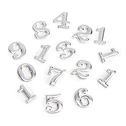 Darice Diy Clock Brushed Silver Metal Numbers in Clarendon, 15 Piece