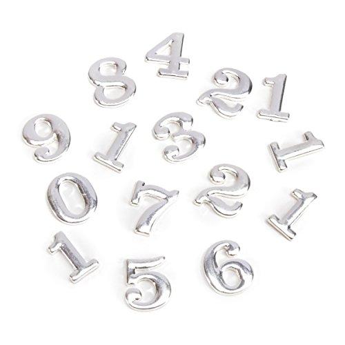 Darice Diy Clock Brushed Silver Metal Numbers in Clarendon,