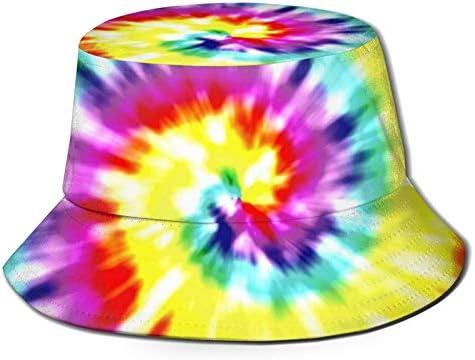 Chapeau de soleil de plage de seau de voyage de cercle coloré pour des hommes femmes casquette de pêcheur