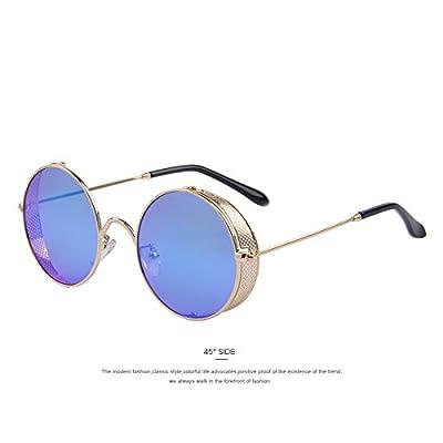 TIANLIANG04 Vêtements Femme ronde Lunettes Steampunk classique hommes de teintes UV400 lunettes de soleil