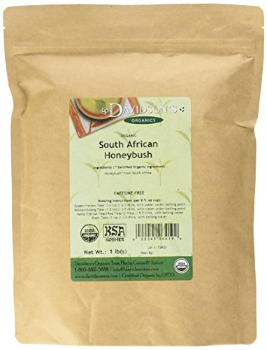 Davidson's Tea Bulk, South African Honeybush, 16-Ounce Bag African Bush Teas Tea