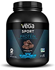 Vega Sport Protein Powder Chocolate (45 Servings, 4 lb 5.9oz) - Plant Based Vegan Protein Powder, BCAAs, Amino Acid, Tart Cherry, Non Dairy, Keto-Friendly, Gluten Free, Non GMO (Packaging May Vary)