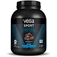 Vega Sport Protein Powder Chocolate (45 Servings, 69.9 Ounce) - Plant Based Vegan Protein Powder, BCAAs, Amino Acid, Tart Cherry, Non Dairy, Keto-Friendly, Gluten Free,  Non GMO (Packaging May Vary)