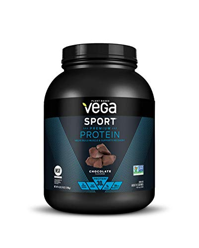 Vega Sport Protein Powder Chocolate (45 Servings, 69.9 Ounce) - Plant Based Vegan Protein Powder, BCAAs, Amino Acid, Tart Cherry, Non Dairy, Keto-Friendly, Gluten Free,  Non GMO (Packaging May Vary)