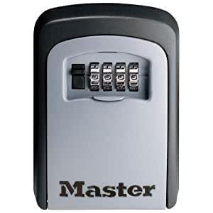 Master Lock Set-Your-Own Combination Lock Box,Wall Mount, Gray (5401 D)