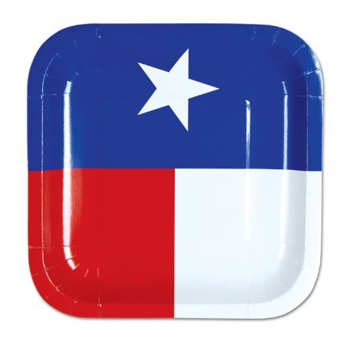 Beistle Texas Plates, 7-Inch - Texas Supplies Party