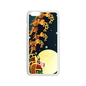 The Flying Santa And Elk Hight Quality Plastic Case for Iphone 6