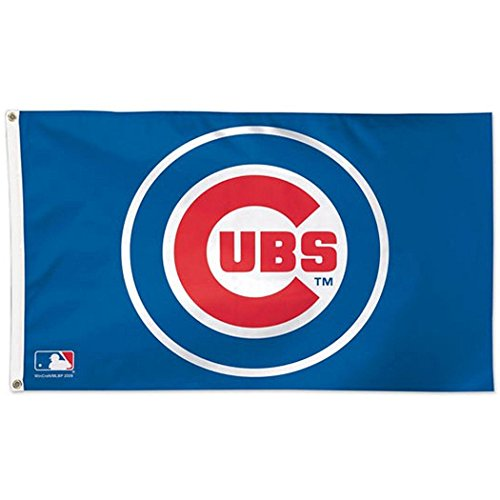 Wincraft MLB Chicago Cubs 01765115 Deluxe Flag, 3' x 5' ()