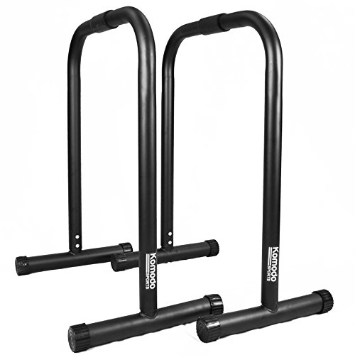 KOMODO Parallel Dip Station Bars Home Gym Parallettes for Body Weight Workout Crossfit Calisthenics