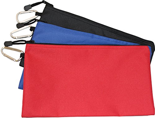 Waterproof Poly Tool Pouch - 3 PACK of Clip Bags, 12.5