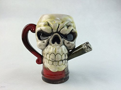 Skull Ceramic Coffee Beer Smokin
