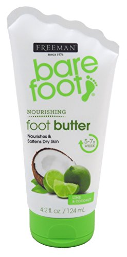 Freeman Bare Foot Butter Lime + Coconut 4.2 Ounce (124ml) (2 Pack)