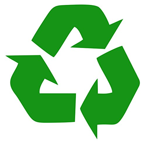 Recycle Symbol Green 5″ Vinyl Decal Window Sticker