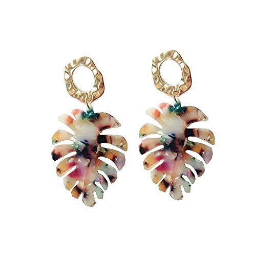 MIAIULIA Acrylic Earrings For Women Girls Statement Palm Leaf Earrings Resin monstera Drop Dangle - Palm Acrylic Tree