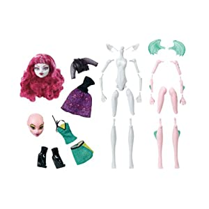 Contenido del Pack Monster High Create A Monster Werewolf & Dragon W9156