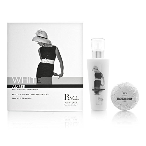 Natural Berkeley Square (Bsq. Natural Couture White Amber 2 Piece Set Includes: 6.7 oz Body Lotion + 150g Shea Butter Soap by Berkeley Square Cosmetics Company)
