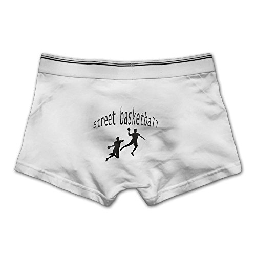 Unhuangs Street Basketball Men's Low Waists and High Waists, Shorts, Tights, and Short Fiber Underwear 3X White