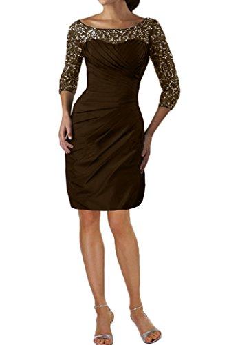 Paillette Ballkleider Kurz Damen P Festkleid 3 amp;Tuell Promkleid Ivydressing Elegant Lang Abendkleid Aermel Taft 4 XRzw6w