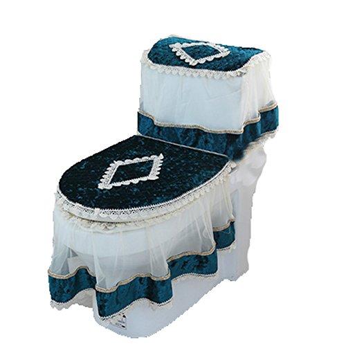 3PC Warmer Bathroom Set Toilet Seat Pad Tank Lid Top Cover L