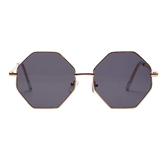 VJGOAL Mujer Vintage hexagonal Gafas de sol Moda Gafas ...