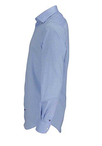 TOMMY TAILORED Hemd Langarm Gitterkaro blau