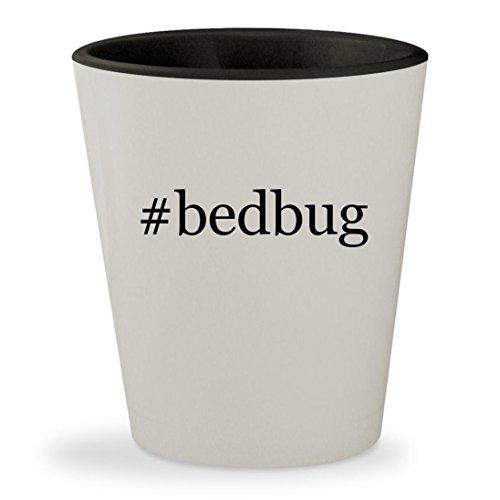 #bedbug - Hashtag White Outer & Black Inner Ceramic 1.5oz Sh