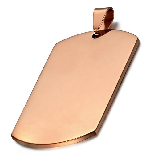 Rose Gold Dog Tags - 8