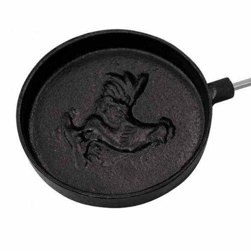 Gardeco COOK-PPAN Long Handled Cast Iron Pancake Pan - Black