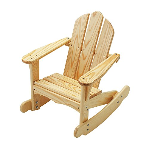 - Little Colorado Kids Seating Childs Adirondack Rocking Chair Natural Laquer